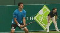 Cristian Garin cayó ante un intratable Novak Djokovic en The Boodles Challenge