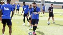 Lionel Messi sigue su evolución y entrenó de cara al debut en Champions
