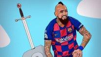 Liga española destacó el octavo gol de Arturo Vidal en la temporada con llamativa caricatura