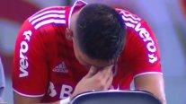Carlos Palacios salió entre lágrimas en duelo de Inter de Porto Alegre