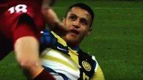 Alexis alardeó con dos de sus grandes jugadas frente a AS Roma