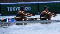 Chilenos César Abaroa y Eber Sanhueza disputarán la Final C en el remo olímpico
