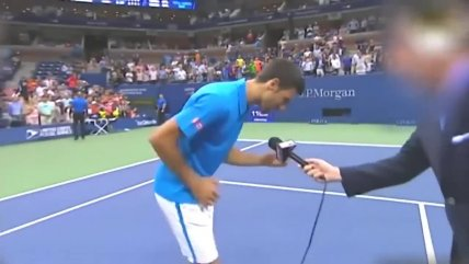 Novak Djokovic celebró en el US Open imitando a Phil Collins