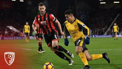 Bournemouth y Arsenal animaron un entretenido empate en la Premier League