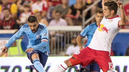 David Villa anotó tres goles en el derbi de New York