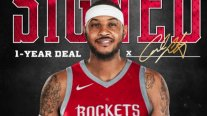 Carmelo Anthony firmó por una temporada en Houston Rockets
