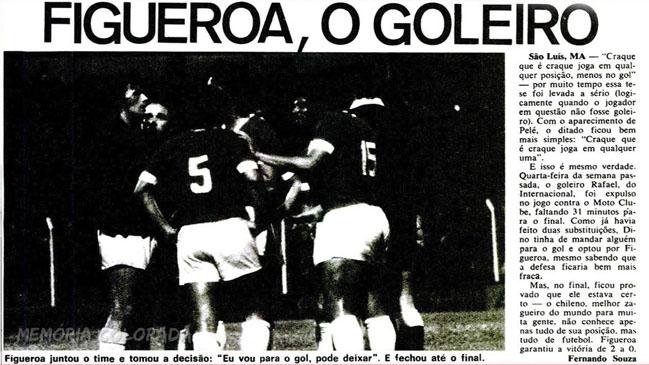 ba56a54f95 Se cumplen 45 años del día en que Elías Figueroa fue arquero ...