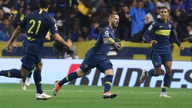 1bbd1297f3 Foto  EFE Darío Benedetto fue héroe en victoria de Boca Juniors sobre  Palmeiras por Copa Libertadores
