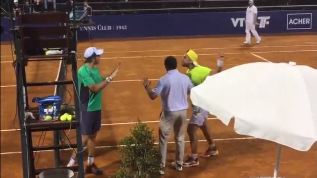 Polémica entre Argüello y Berlocq en el Challenger de Montevideo