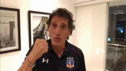 Mario Salas se puso la camiseta y envió un saludo para los hinchas de Colo Colo