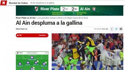"""""""Al Ain despluma la gallina"""": La reacción de la prensa española y argentina por el fracaso de River"""