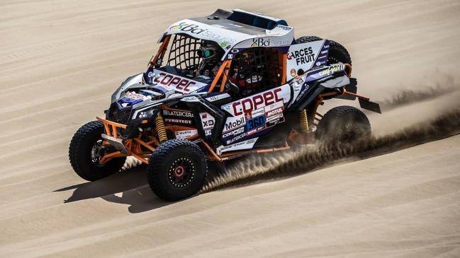 """Francisco """"Chaleco"""" López se adjudicó el liderato de la clasificación general de SxS en el Dakar"""