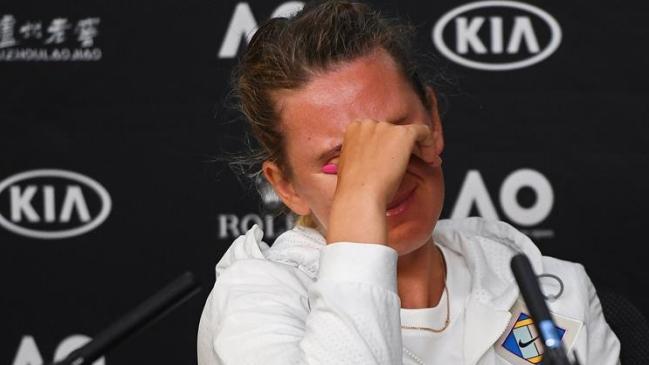 La desgarradora rueda de prensa de Viktoria Azarenka tras caer en Australia