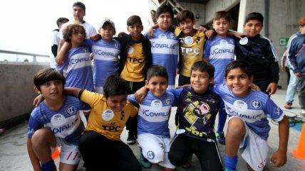Niños de Coquimbo y la UC compartieron tribuna en el marco del programa Vamos al Estadio