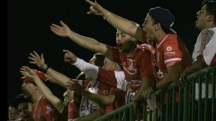 Seguidores de La Calera dedicaron cánticos a Chapecoense en el Arena Condá