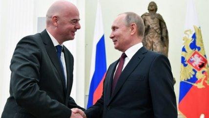Gianni Infantino visitó a Vladimir Putin en el Kremlin