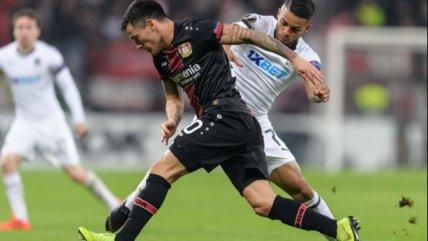 El bombazo de Aránguiz que fue insuficiente para la clasificación de Bayer Leverkusen en Europa League