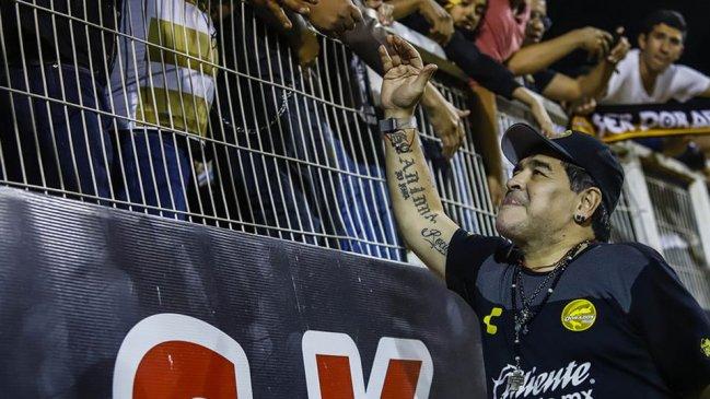 Gol de Felipe Mora eliminó a Diego Maradona de la Copa MX