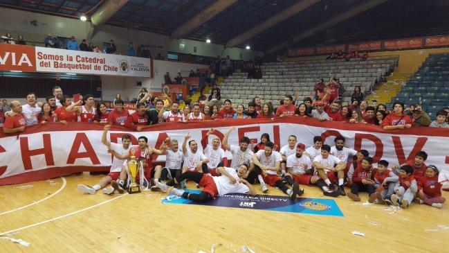 CD Valdivia se consagró en la Conferencia Sur de la LNB tras vencer a ABA Ancud