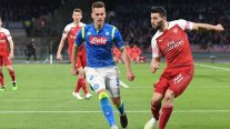 Arsenal venció con lo justo a Napoli y aseguró su paso a semifinales de la Europa League