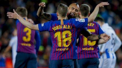 Arturo Vidal salió ovacionado en victoria de Barcelona sobre Real Sociedad