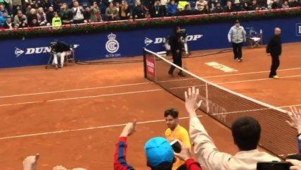 La ovación de los chilenos a Nicolás Jarry tras su triunfo en el ATP 500 de Barcelona