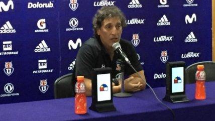 Mario Salas: Siento que la U juega bien y no merece estar donde está