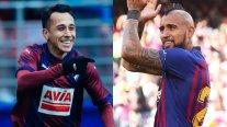 Arturo Vidal y Fabián Orellana se ven las caras en el cierre de la liga española