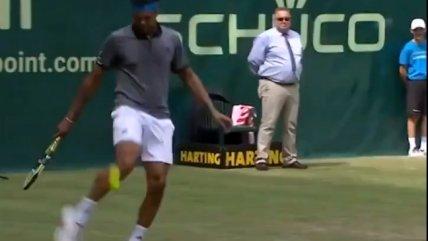 Benoit Paire y Tsonga se divirtieron jugando fútbol en pleno partido de tenis
