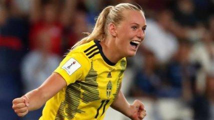 Suecia accedió a los cuartos de final del Mundial Femenino tras imponerse sobre Canadá