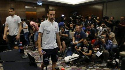 José Pedro Fuenzalida y Gabriel Arias conversaron con los medios en Sao Paulo
