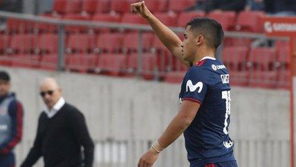 Nicolás Guerra estiró la ventaja de la U frente a Temuco con un cabezazo letal