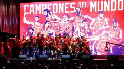 Selección española festejó en Madrid el título del Mundial de Baloncesto