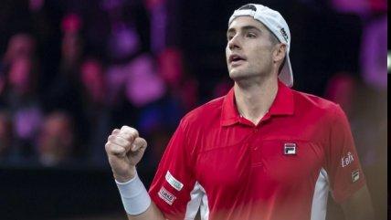La victoria de John Isner sobre Alexander Zverev en la segunda jornada de la Laver Cup