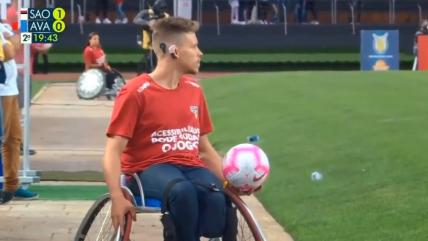 Atletas paralímpicos fueron recogepelotas en duelo entre Sao Paulo y Avaí