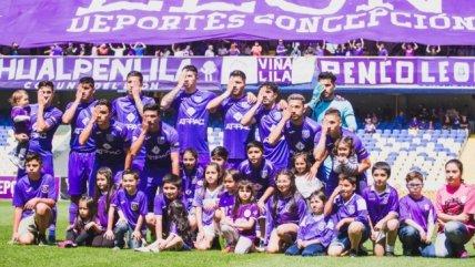 El homenaje de los jugadores de Concepción a quienes han perdido un ojo en las protestas - AlAireLibre.cl