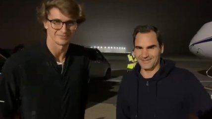 Roger Federer y Alexander Zverev llegaron a Argentina para exhibiciones en Sudamérica