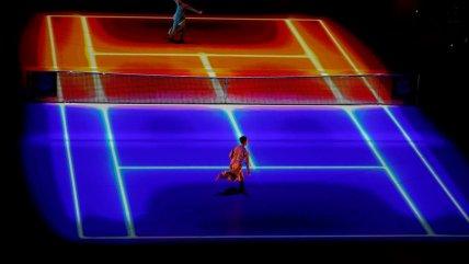 La lumínica inauguración de las Finales de la Copa Davis en Madrid