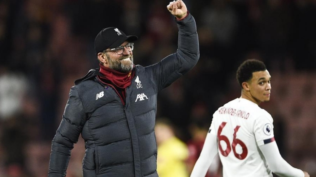 Liverpool continúa imparable en la Premiere League tras vencer a Bournemouth