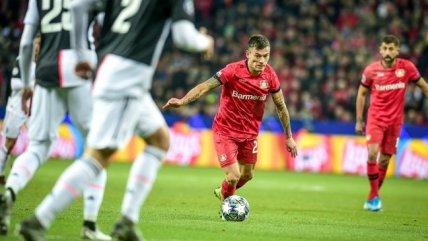 El disparo de Charles Aránguiz que pudo cambiar la suerte de Leverkusen ante Juventus