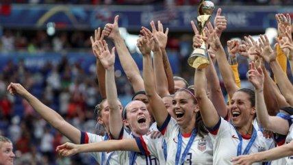 Estados Unidos lidera el último ranking FIFA de selecciones femeninas y Chile es 36