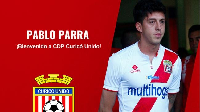 Curicó Unido anunció a Pablo Parra como flamante incorporación