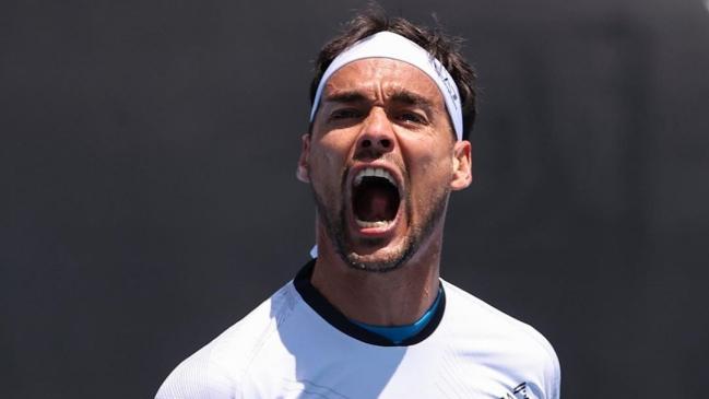 Imperdible show de Fognini en el Australian Open