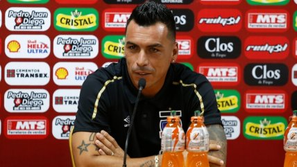 Esteban Paredes: Este miércoles veremos si juego o no ante Universidad de Chile