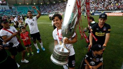 Los festejos de Colo Colo luego de proclamarse campeón de la Copa Chile ante la U