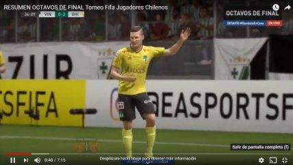 ¡Lluvia de goles! El resumen de los octavos de final del torneo FIFA 20 para futbolistas chilenos