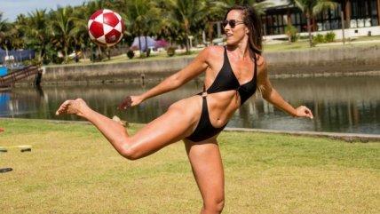 La freestyler brasileña Natalia Guitler deslumbró con su versión del Bottle Cap Challenge