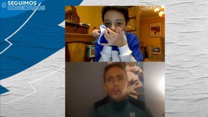 Diego Buonanotte sorprendió a pequeño socio abonado de la UC en el día de su cumpleaños