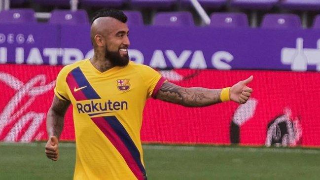Barcelona sigue vivo en la lucha por el título tras tumbar a Valladolid con golazo de Arturo Vidal