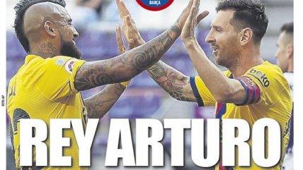 """""""Rey Arturo"""": Vidal acaparó las portadas en España tras su gol ante Real Valladolid"""